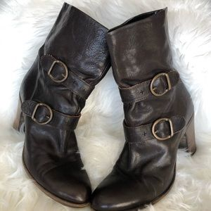 Dark Brown Fiorentini + Baker Booties Size 40